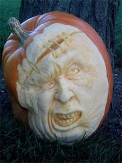 Halloween pictures - Crazy face on Pumpkin