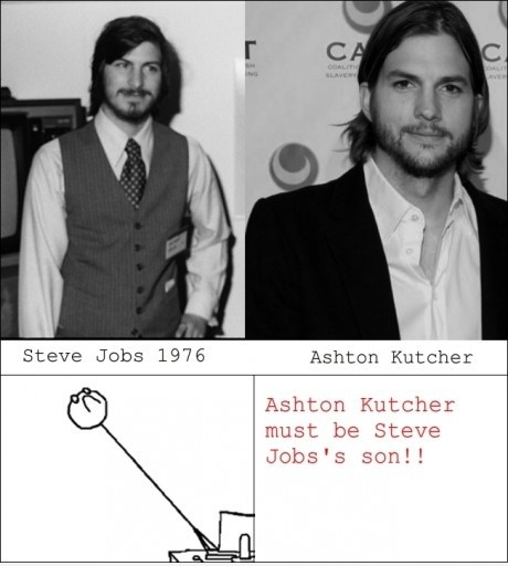 Ashton Kutcher is Steve Jobs' son!