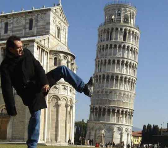 Kicking the Leaning Pisa Tower