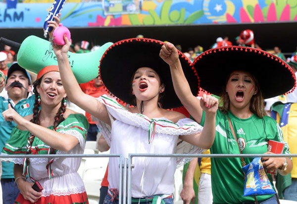 World Cup 2014 - Mexico fans - Cheer