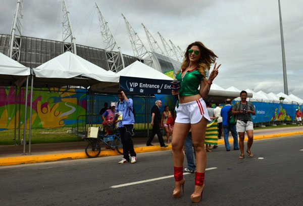 World Cup 2014 - Mexico fans - Beautiful girl