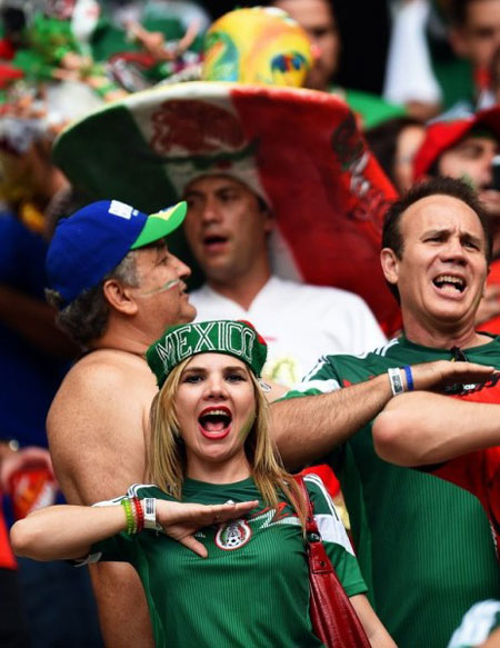 World Cup 2014 - Mexico fans - We are the Mexicans