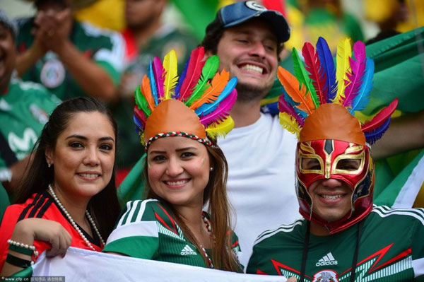 World Cup 2014 - Mexico fans - Colorful