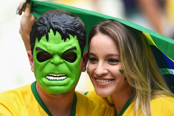 World Cup 2014 - Brazil fans - The Hulk