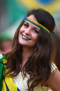 Sport Wallpaper - World Cup 2014 - Brazil fans - Charming smile