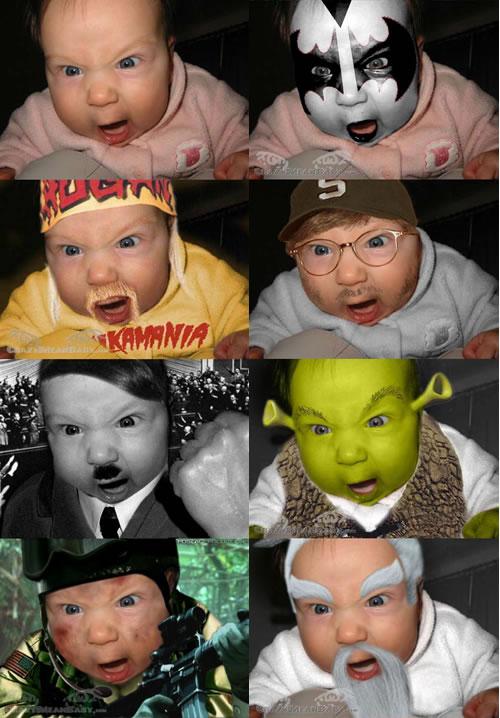 Crazy Mean Baby halloween