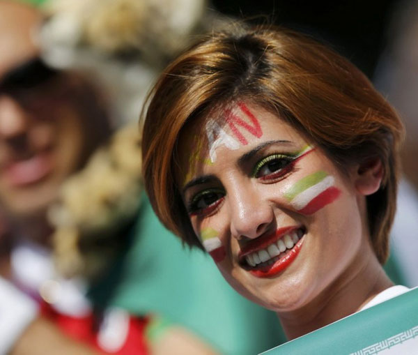 World Cup 2014 - Iran fans - Beautiful smile