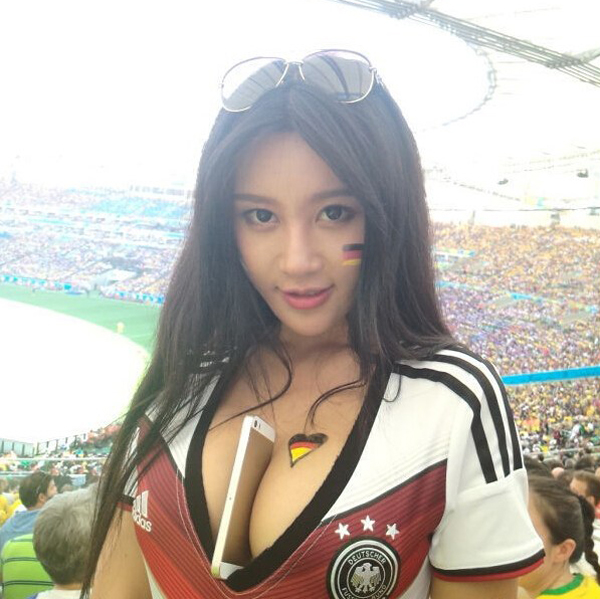 World Cup 2014: Will Germany get the cup with a super sexy fan?