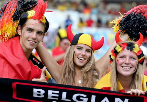 World Cup 2014 - Belgium fans - Angel or Red Devil