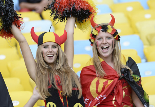 World Cup 2014 - Belgium fans - Angel or Red Devil 05