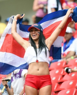 Sport Wallpaper - World Cup 2014 - Costarica fans - Sexy female fan