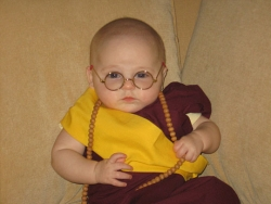 Halloween pictures - Funny baby Dalai Lama Halloween Costume