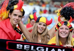 Sport Wallpaper - World Cup 2014 - Belgium fans - Angel or Red Devil