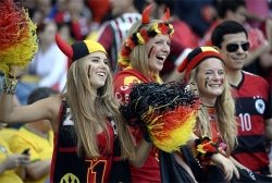 Sport Wallpaper - World Cup 2014 - Belgium fans - Angel or Red Devil 03
