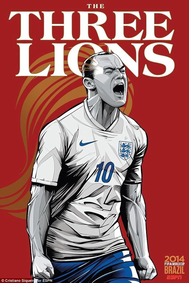 World Cup 2014 - Comic Photo: England - Wayne Rooney