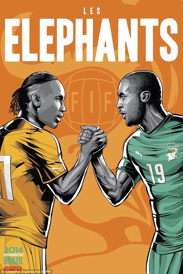 World Cup 2014 - Comic Photo: Côte d'Ivoire - Didier Drogba & Yaya Toure
