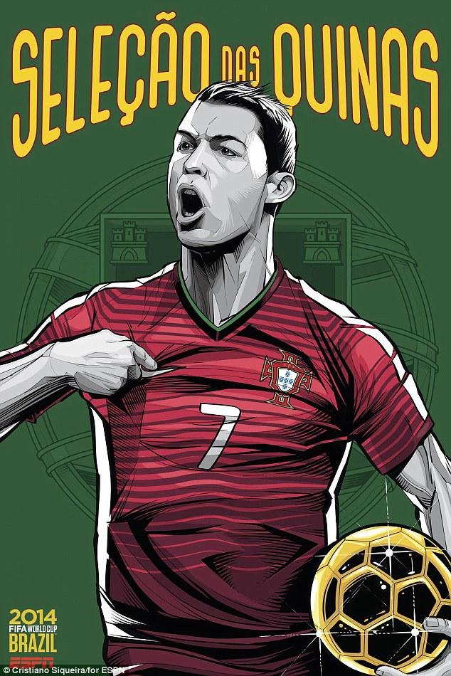 World Cup 2014 - Comic Photo: Portugal - Cristiano Ronaldo