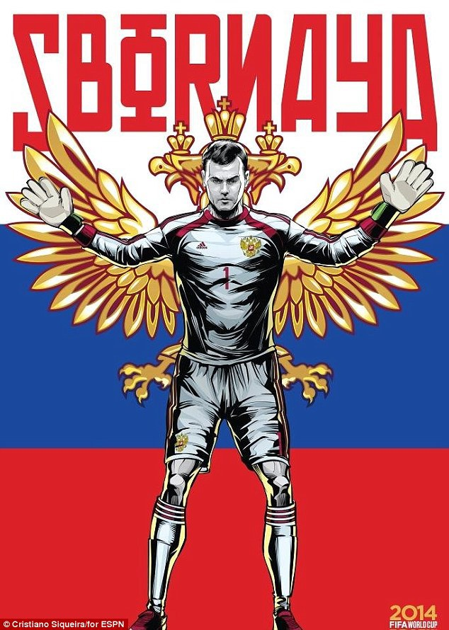 World Cup 2014 - Comic Photo: Russia -  Igor Akinfeev