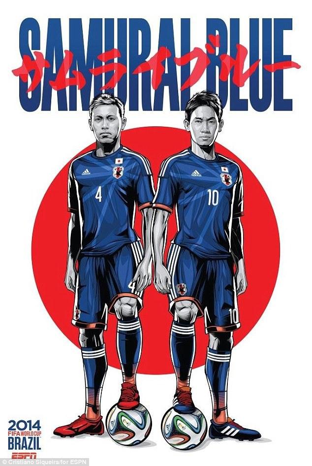 World Cup 2014 - Comic Photo: Japan - Keisuke Honda & Shinji Kagawa