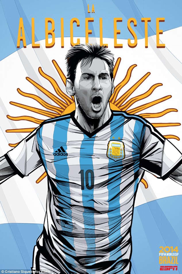 World Cup 2014 - Comic Photo: Argentina - Lionel Messi