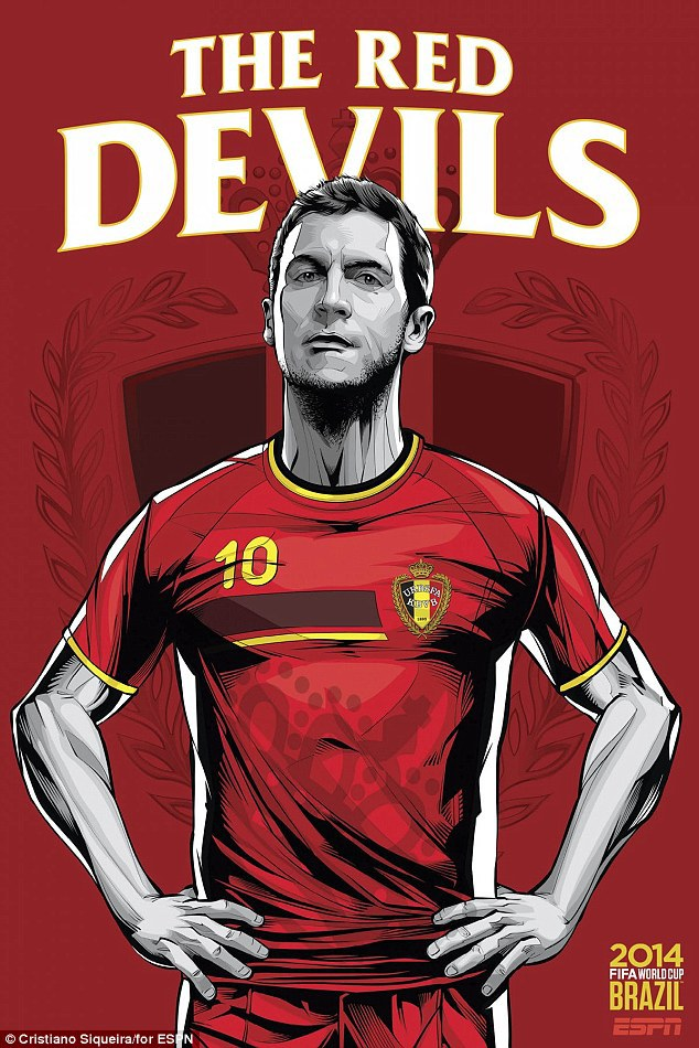 World Cup 2014 - Comic Photo: Belgium - Eden Hazard