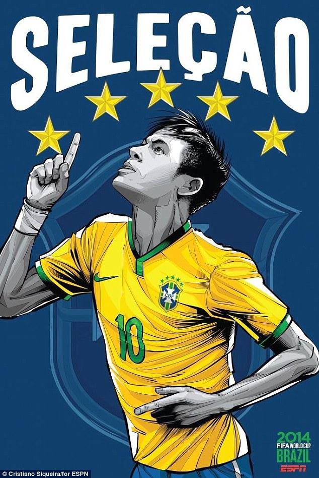 World Cup 2014 - Comic Photo: Brazil - Neymar