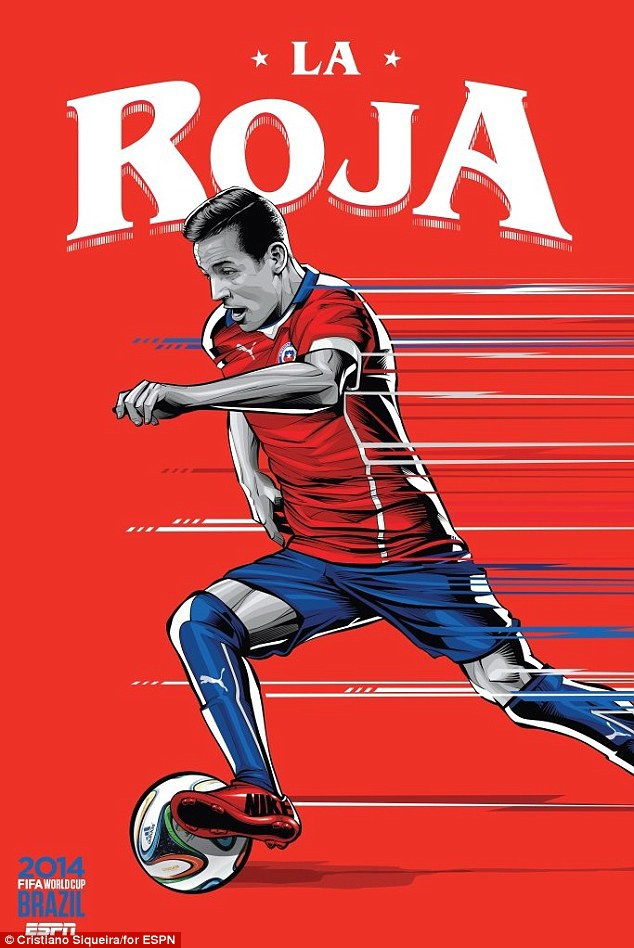World Cup 2014 - Comic Photo: Chile - Alexis Sanchez