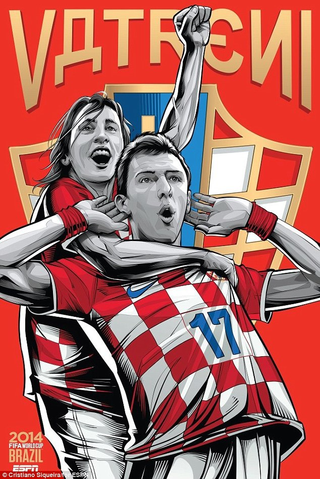 World Cup 2014 - Comic Photo: Croatia - Modric & Mandzukic