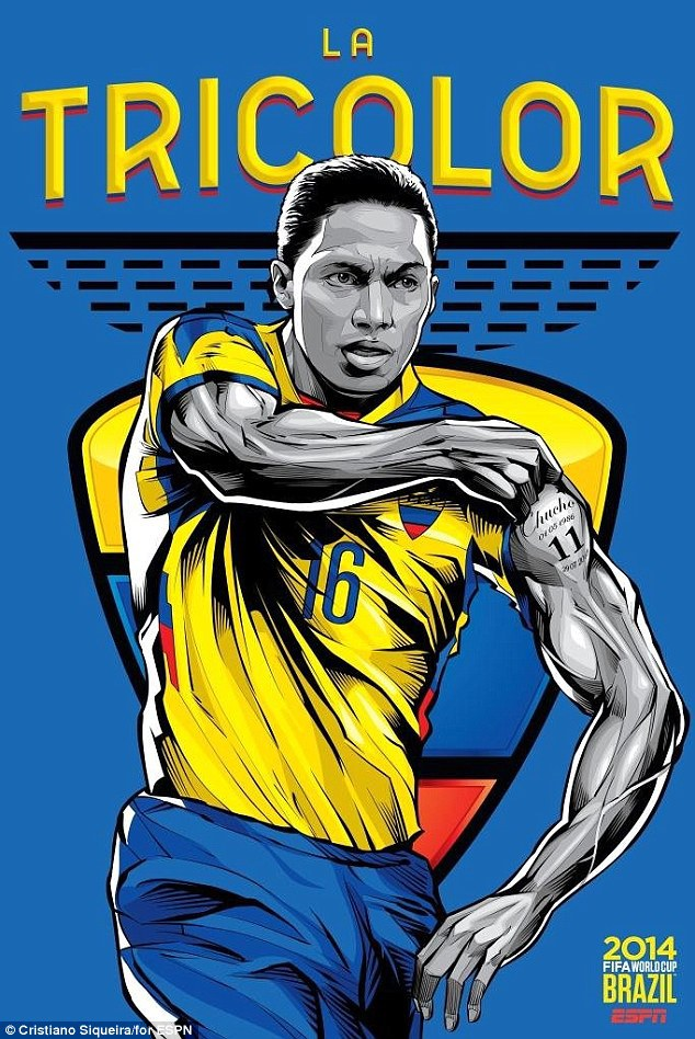 World Cup 2014 - Comic Photo: Ecuador - Antonio Valencia