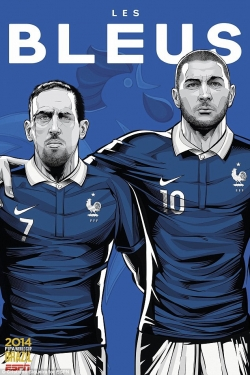 Sport Wallpaper - World Cup 2014 - Comic Photo: France - Ribery & Benzema