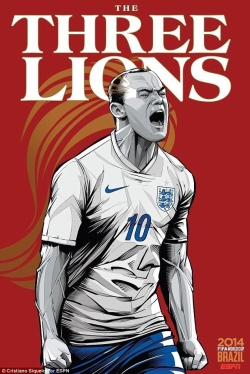 Sport Wallpaper - World Cup 2014 - Comic Photo: England - Wayne Rooney
