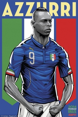 Sport Wallpaper - World Cup 2014 - Comic Photo: Italy - Balotelli