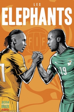Sport Wallpaper - World Cup 2014 - Comic Photo: Côte d'Ivoire - Didier Drogba & Yaya Toure