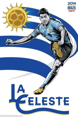 Sport Wallpaper - World Cup 2014 - Comic Photo: Uruguay - Luis Suarez