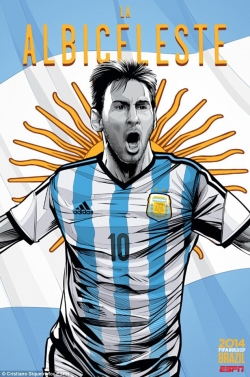 Sport Wallpaper - World Cup 2014 - Comic Photo: Argentina - Lionel Messi