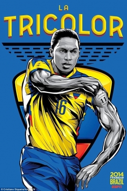 Sport Wallpaper - World Cup 2014 - Comic Photo: Ecuador - Antonio Valencia
