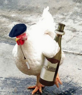 chicken and wine
