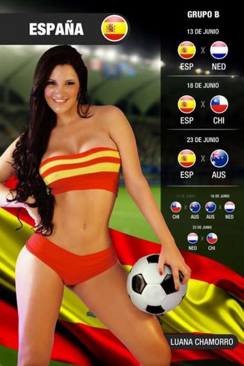 World Cup 2014: Espana Girl - Luana Chamorro 2