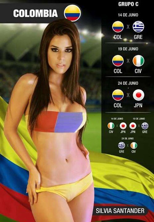 World Cup 2014: Colombia Girl - Silvia Santander 2