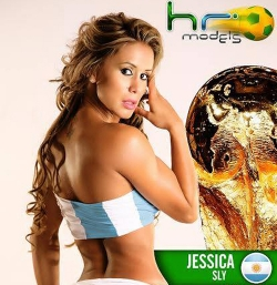 Sexy Wallpapers & Pictures - World Cup 2014: Argentina Girl - Jessica Sly