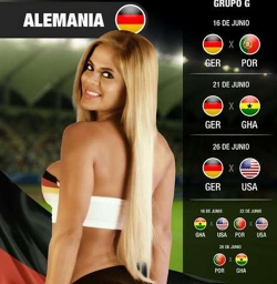 Sexy Wallpapers & Pictures - World Cup 2014: Germany Girl - Simone Villar 2