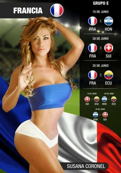 Sexy Wallpapers & Pictures - World Cup 2014: France Girl - Susana Coronel 2