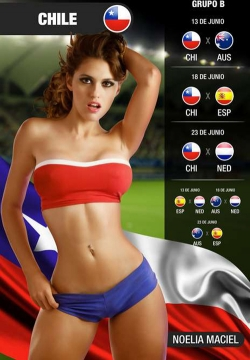 Sexy Wallpapers & Pictures - World Cup 2014: Chile Girl - Noelia Maciel 2