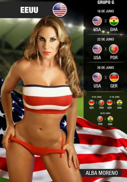 Sexy Wallpapers & Pictures - World Cup 2014: USA Girl - Alba Moreno