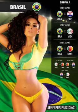 Sexy Wallpapers & Pictures - World Cup 2014: Brasil Girl - Jennifer Ruiz Dia 3