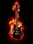 Burning Guitar