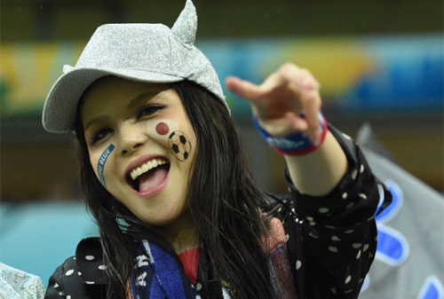 World Cup 2014 - Japan fans - Beautiful smile