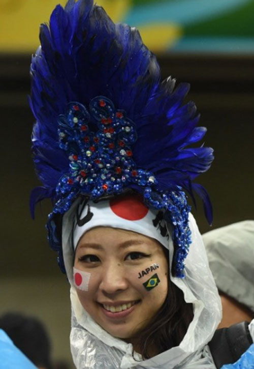 World Cup 2014 - Japan fans - Nice hat