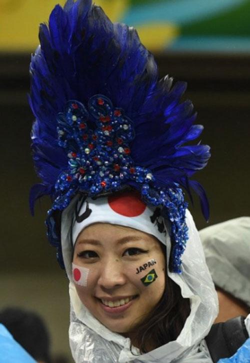 World Cup 2014 - Japan fans - Nice hat