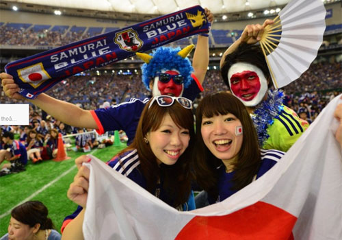 World Cup 2014 - Japan fans - colorful